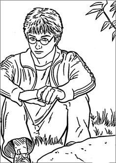 Dibujos para Colorear Harry Potter 33