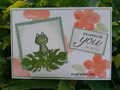 Stampin' Up - Love You Lots Frog and Botanical Blooms