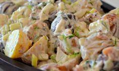 zemiakový šalát recept so slaninou a pažítkou