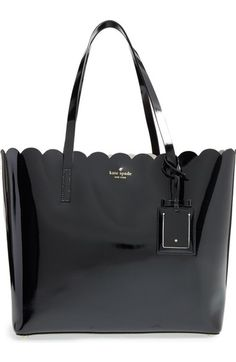 KATE SPADE NEW YORK 'lily avenue patent - carrigan' leather tote. #katespadenewyork #bags #patent #hand bags #tote #linen #
