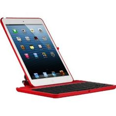 Amazon.com: CoverBot iPad Mini Keyboard Case Station RED. Bluetooth Keyboard For 7.9 Inch New Mini iPad with IOS Commands. Folio Style Cover with 360 Degree Rotating Viewing Stand Feature: Electronics