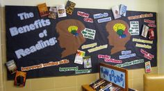 The Benefits of Reading bulletin board