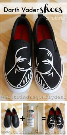diy for geeks | Vader shoes