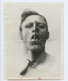 Vintage Gal: The Pierced Man, a circus performer from the 30's.