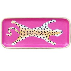 Dana Gibson Handpainted Pink Leopard...my daughter gave me the eyeglass case and cosmetics/misc. bag in this design.