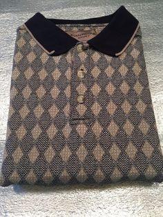 EVAN PICONE SPORT Mens Polo Golf Shirt - Geometric, Textured  -  Size L