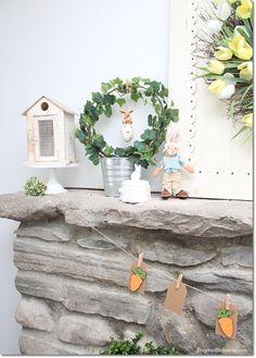 Cute pastel Easter decor, DagmarBleasdale.com #easter #diy #homedecor