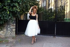 sammi maria (beauty crush) wearing alexandra grecco skirt!