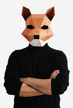 Make your own Fox Mask Animal Head Fantastic por AwesomePatterns