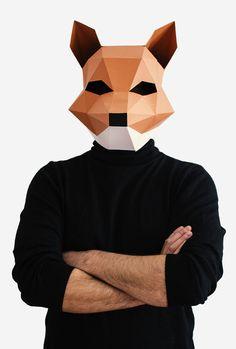 Make your own Fox Mask Animal Head Fantastic por AwesomePatterns