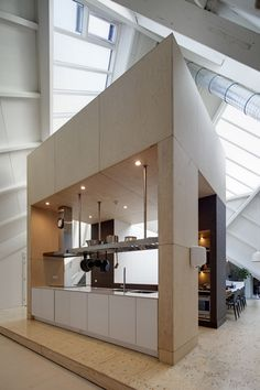 Dutch studio Personal Architecture renovated one of Piet Bloms' iconic Cube Houses in Rotterdam to create a residence for delinquents in their final stages of detention Beautiful Interior Design, Modern Interior Design, Interior Architecture, Jacuzzi, Commercial Interiors, Office Interiors, Interiores Design, Rotterdam, Home Deco