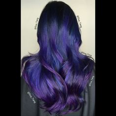 Blue violet balayage ombre