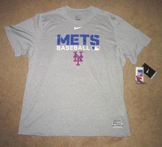 another chance 60d59 978af Nike New York Mets Baseball Dri-FIT Legend Mens Shirt XL Grey  Nike   NewYorkMets