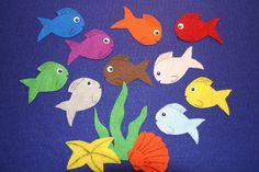 """10 Little Fish"" handmade felt/ flannel board story set #handmade"