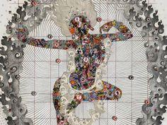 Gonkar Gyatso, Power Lhamo, 2015, mixed media on fine art paper, mounted on Dibond, 122 x 100 cm. Courtesy the artist and Galleria Mimmo Scognamiglio, Milan