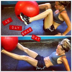 stability ball in outs - SO HARD, really tough on the abs!