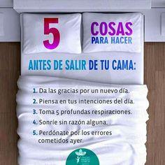 5 cosas para hacer antes de salir de tu cama...