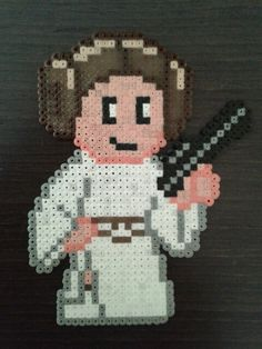 Princess Leia Star Wars hama beads by Rubén Franco