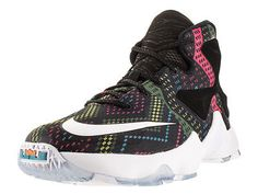 newest b3896 0356d Nike Kids Lebron Xiii Bhm Gs Multi/Color/White/Omega Blue Basketball Shoe