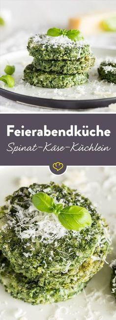 Lecker schnelle Feierabend Küche - Spinat-Käse-Küchlein Mehr