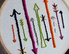 Where Will You Go Arrow Design Embroidery Hoop Art. $11.00, via Etsy.