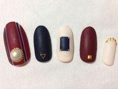 ♪AUTUMN♪ 【nail&eyelash salon espoir】 http://nail-beautynavi.woman.excite.co.jp/design/detail/3106?pint ≪ #nail #nails #nailart #softgel #white #black #ネイル #秋ネイル #マットネイル≫