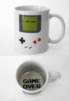 Kids Won't Know What's On This Mug - Gameboy Game Over Mug