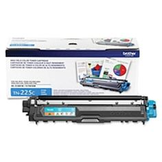 Brother Genuine TN225C High Yield Cyan Toner Cartridge - Laser - High Yield - 2200 Pages - Cyan - 1 Each
