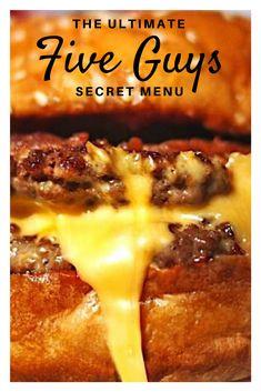 The Five Guys Secret Menu Is Ridiculous - Essen - Burger Guys Burgers Recipe, Best Burger Recipe, 5 Guys Burgers, Smash Burgers, Burger Patty Recipe, Patty Melt Recipe, Beef Burgers, Grilled Hamburger Recipes, Turkey Burger Recipes