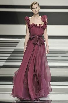 Elie Saab Fall 2008 Ready-to-Wear Fashion Show - Tatyana Usova
