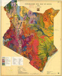 Soil map of Kenya