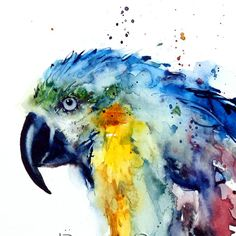 MACAW Watercolor Print by Dean Crouser by DeanCrouserArt on Etsy, $25.00