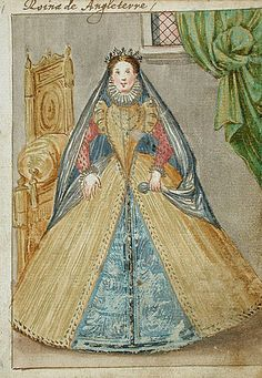 Queen of England.  Album Amicorum of a German Soldier, 1595  Book/manuscript/album; Costume/textile works on paper, Gouache on paper, 6 1/8 x 4 1/2 in. (15.56 x 11.43 cm)