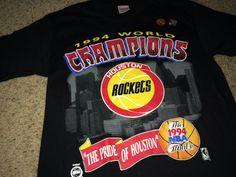 2a9e246b77d Sale Vintage 1994 NBA World Champions HOUSTON by casualisme Houston  Rockets