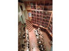 WOW! A two-story wine cellar!