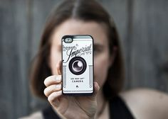 Camera iPhone 4 case, plastic case, gadget case, tech Christmas gift for photographers