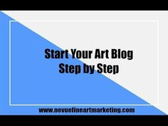 Start Your Art Blog Step by Step