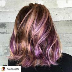 95 Purple Hair Color Highlights Lowlights For Dark Burgundy Plum Violets Colors . 95 Purple Hair C Purple Brown Hair, Brown Hair With Blonde Highlights, Hair Color Purple, Hair Color Highlights, Light Brown Hair, Cool Hair Color, Purple Wig, Hair Colors, Black Hair