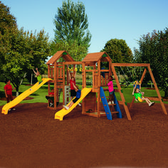 Your children's imagination will run wild in the PlayStar® SuperStar Bronze Playset. Available in factory-built and build-it-yourself varieties, this playset contains 20 different activities!