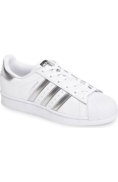 newest 87b96 24c08 adidas  Superstar  Sneaker (Women) available at  Nordstrom White Slip On  Sneakers
