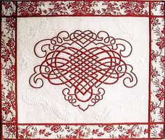 Celtic Heart Applique pattern. Maybe I can figure out how to turn it into machine embroidery.....