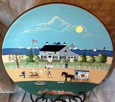 Adorable American folk art AKA tole painting of by Lulubellebazaar