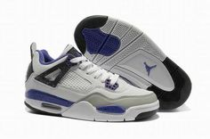 the latest 6bdfd 4bf37 Nike Air Jordan 4 White Purple Grey Women Shoes Cheap Jordan Shoes, Cheap  Shoes,