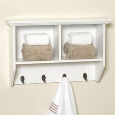 9924 Collette Wood Wall Cubby with Hooks