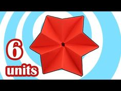Easy Modular Origami Star by 6 units (Howto Video) - YouTube