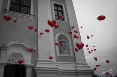 wedding, ballons