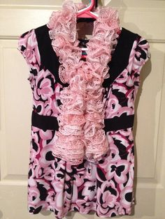 Pink Ice Ruffle Scarf on Etsy, $20.00