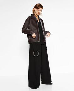 Image 1 of VELVET BOMBER JACKET from Zara