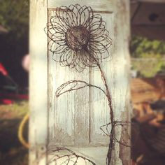 Barbed wire flower