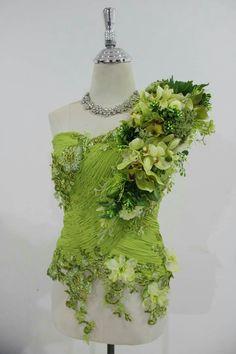 Botanical Fashion, Floral Fashion, Fashion Art, Fashion Design, Garden Dress, Fairy Dress, Rave Outfit, Flower Costume, Flower Dresses